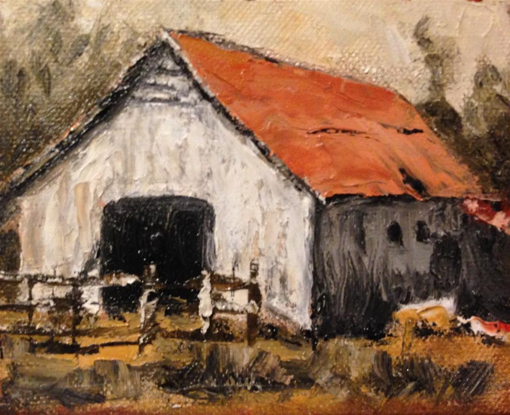 """Zorn Barn"" original fine art by Debbie Yacenda"