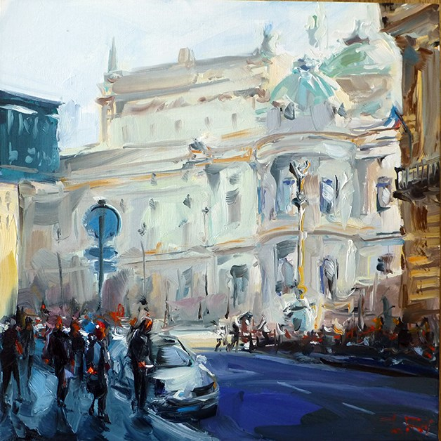 """""""pariser-opernhaus"""" original fine art by Jurij Frey"""