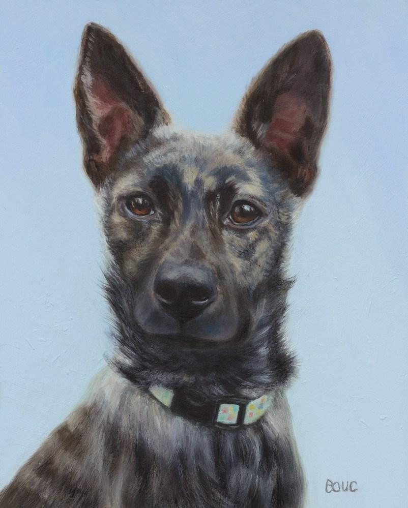 """Portrait of Mika"" original fine art by Jana Bouc"