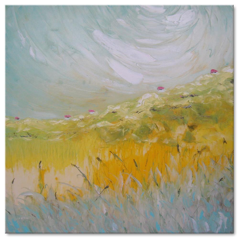 """Golden valley"" original fine art by Elena Lunetskaya"