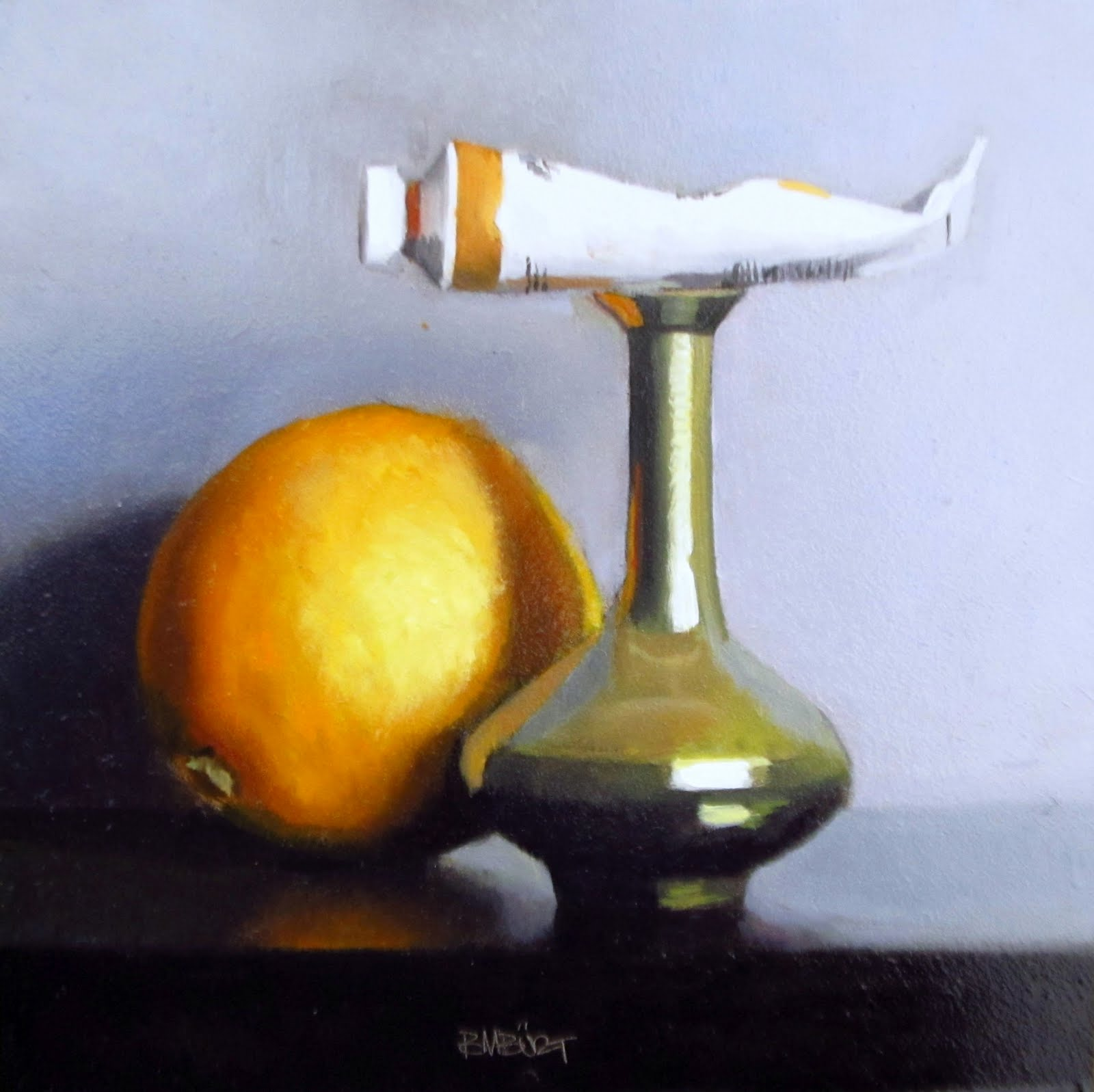 """DAILY DIAPER #239 Oranges"" original fine art by Brian Burt"