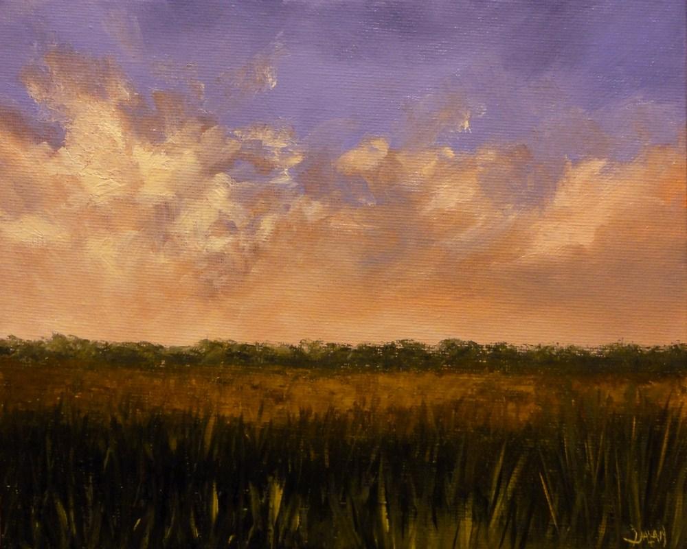 """Sunrise On The Bayou"" original fine art by Dalan Wells"