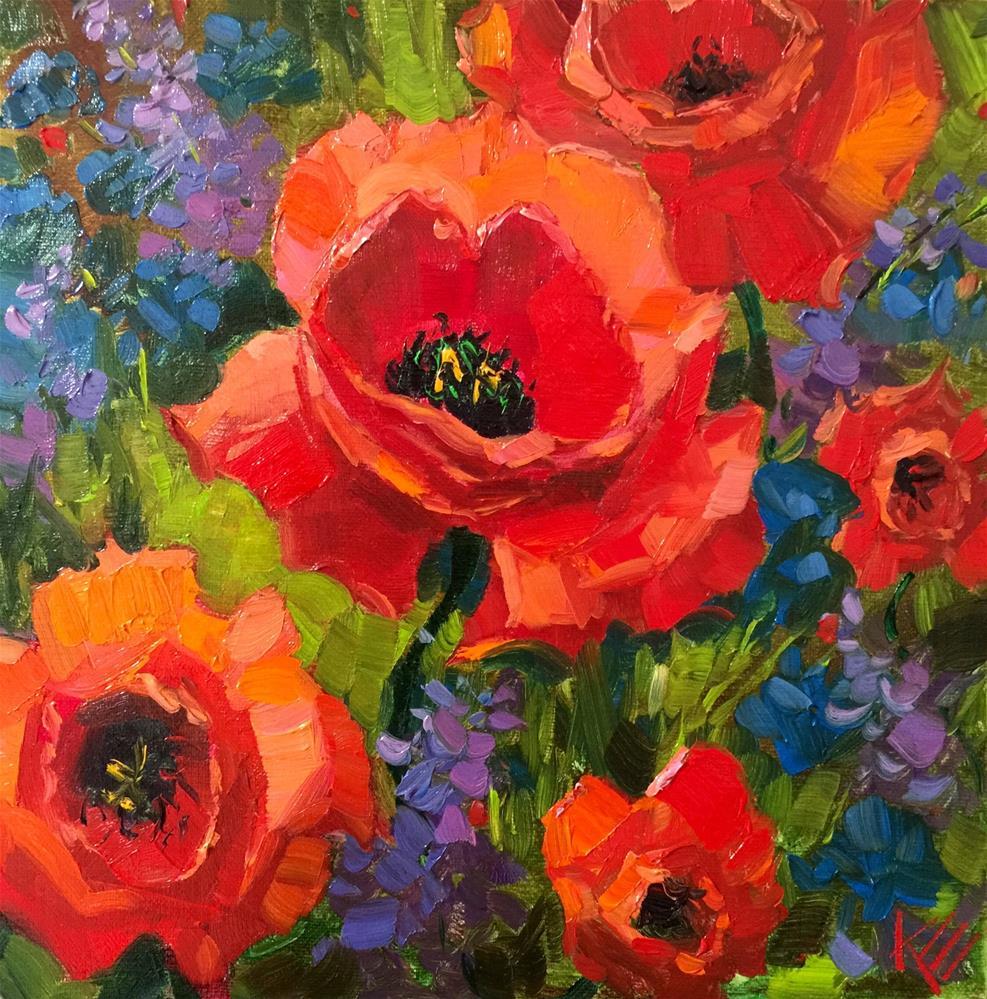 """Poppies in Bloom"" original fine art by Krista Eaton"
