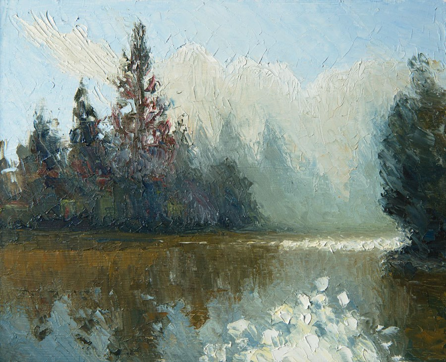"""Kew Lake"" original fine art by Jethro Knight"