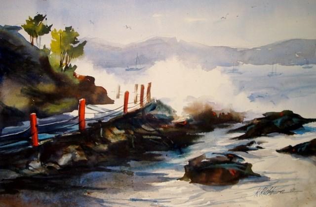 """At the Sea"" original fine art by Kathy Los-Rathburn"