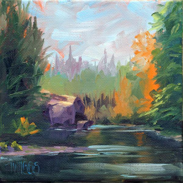 """Landscape 4"" original fine art by Lori Twiggs"