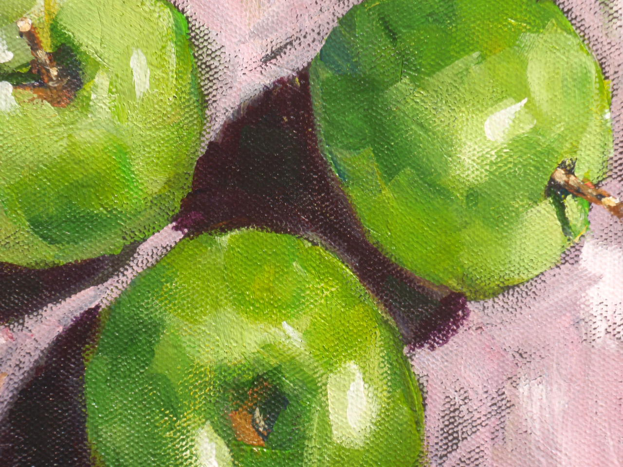 """apples"" original fine art by Shelley Garries"