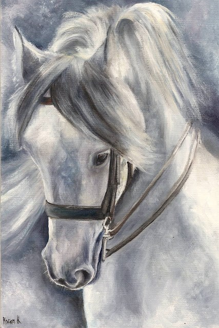 """Study in Grey"" original fine art by Karen Robinson"