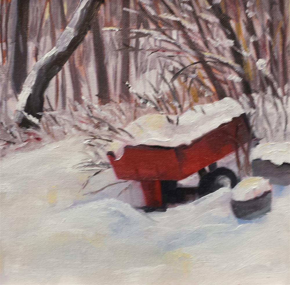 """Waiting for Work"" original fine art by Judith Fletcher"