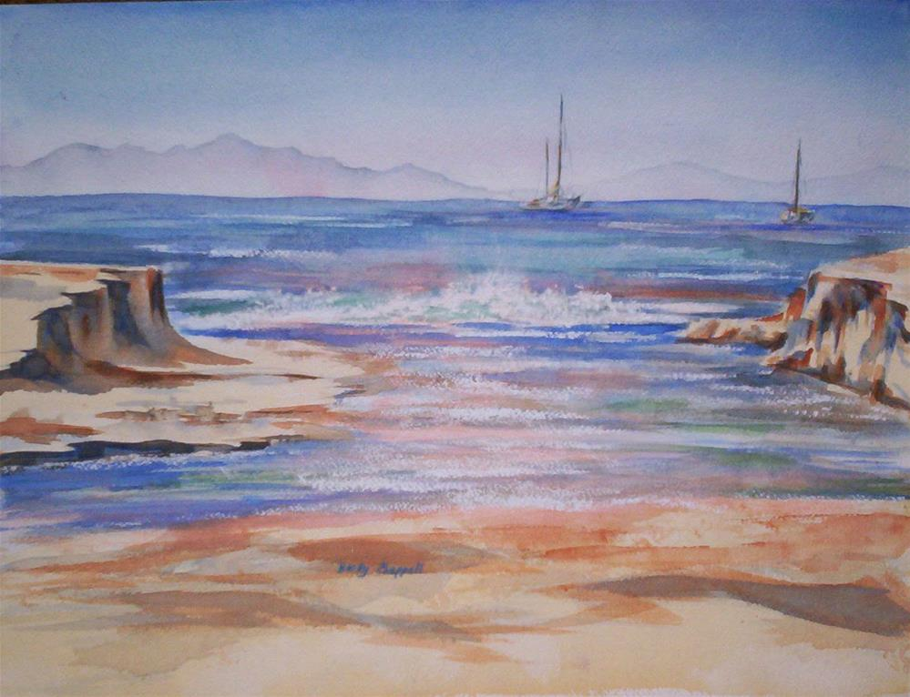 """Santa Cruz"" original fine art by Becky Chappell"