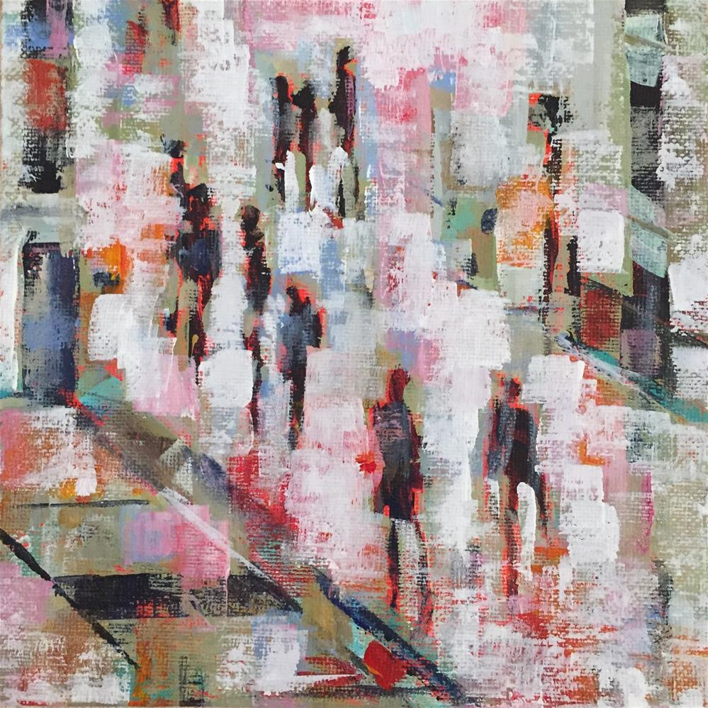 """City People"" original fine art by Molly Wright"