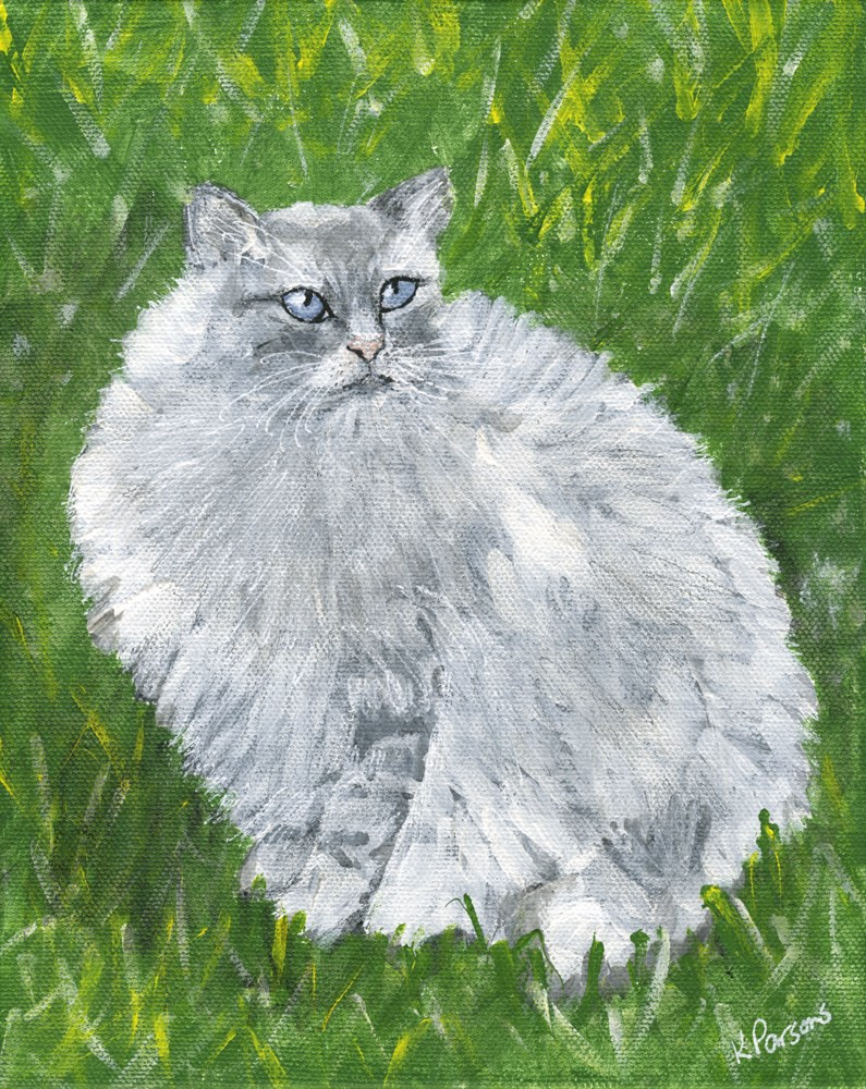 """Fluffy"" original fine art by Kali Parsons"