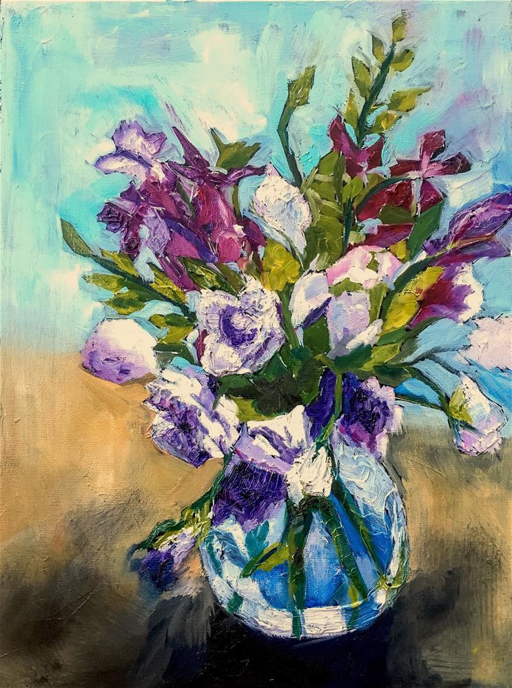 """Violets"" original fine art by Piya Samant"