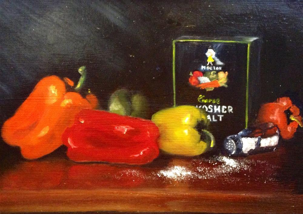 """""""Salt and Peppers"""" original fine art by Susan Hoffheimer"""