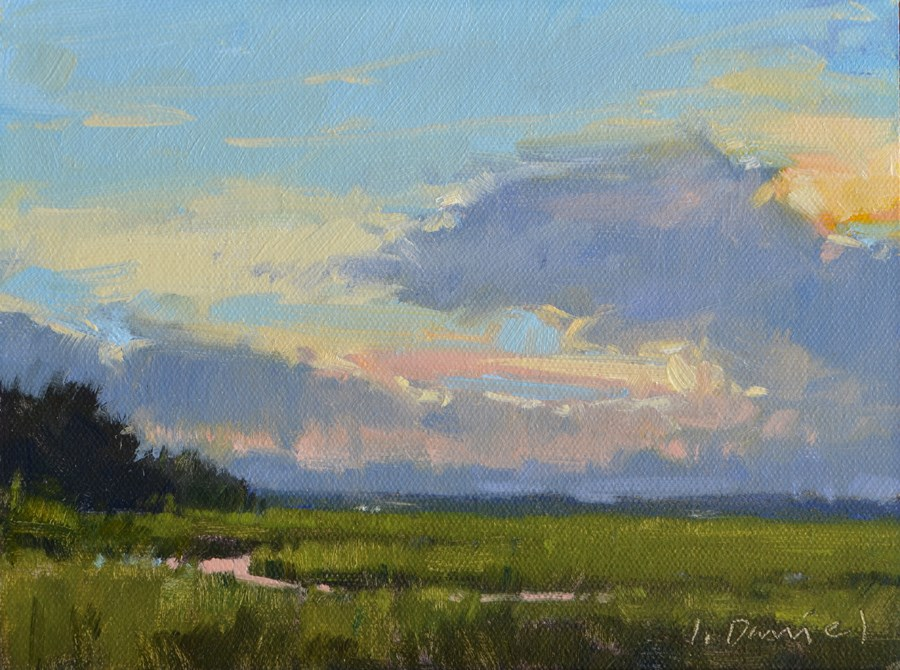 """Luminous Sky Study"" original fine art by Laurel Daniel"