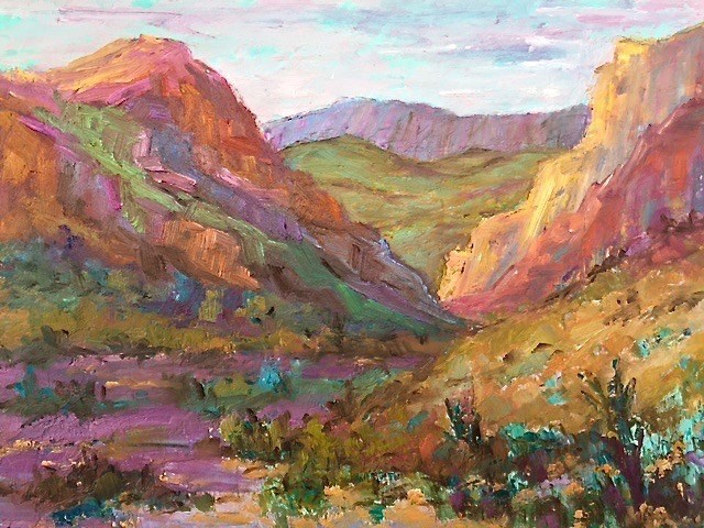 """Big Bend Cliffs"" original fine art by Liz Zornes"