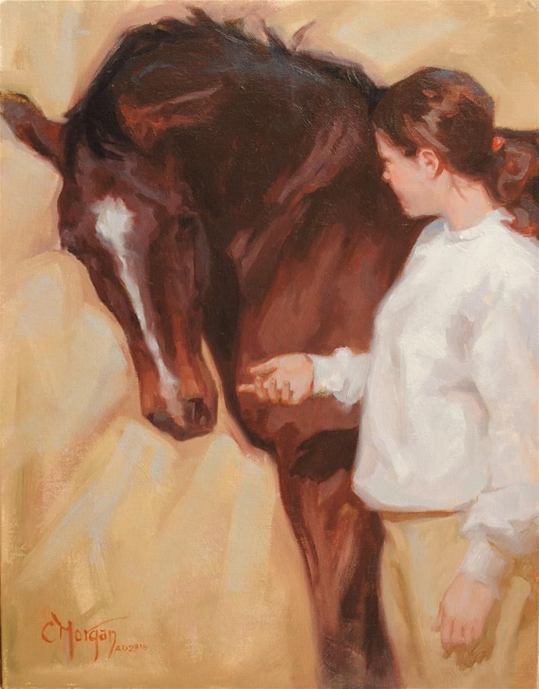 """Connection"" original fine art by Cecile W. Morgan"