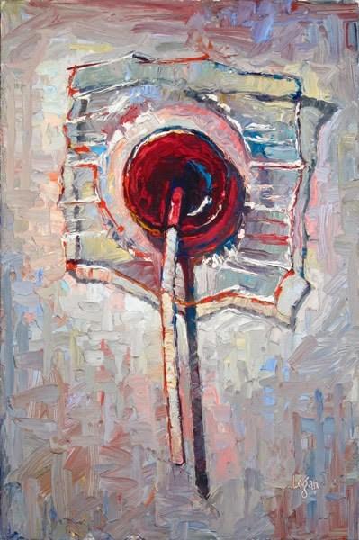 """Lollipop Grape"" original fine art by Raymond Logan"