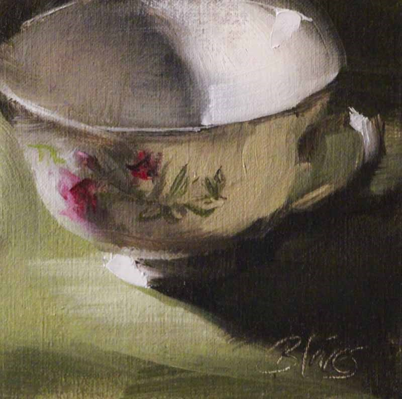 """Teacup Study"" original fine art by Pamela Blaies"