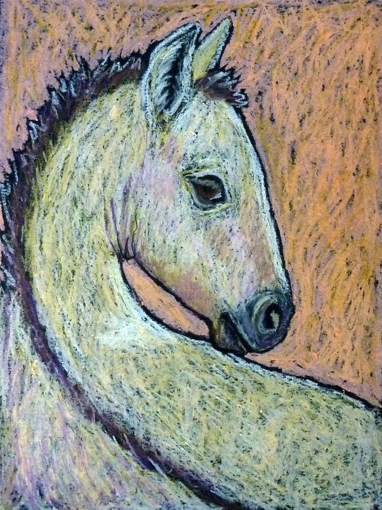 """""""Sleepy Buckskin Foal"""" original fine art by Ande Hall"""