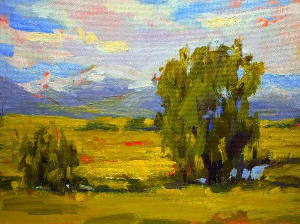 """Sunshine by the Creek"" original fine art by Melanie Thompson"