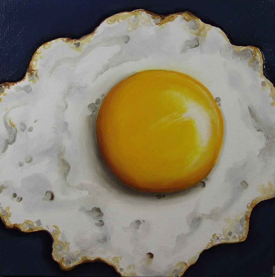 """Eight inch Egg"" original fine art by Jane Palmer"