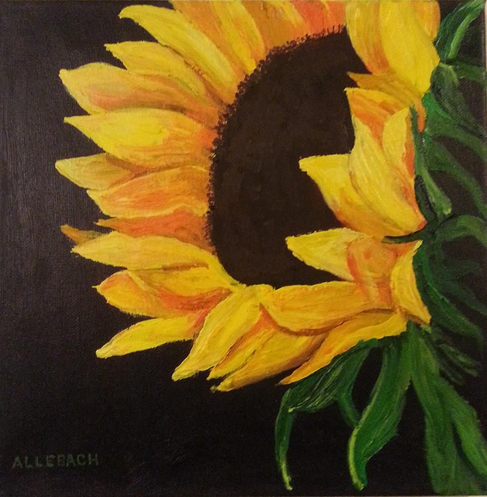"""Sunflower Facing"" original fine art by Jo Allebach"