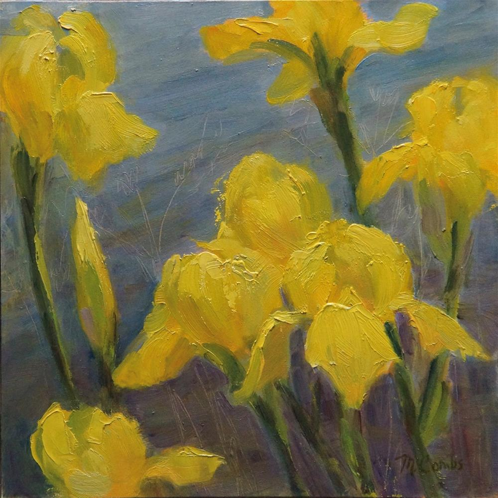 """Yellow Irises"" original fine art by Michele Combs"