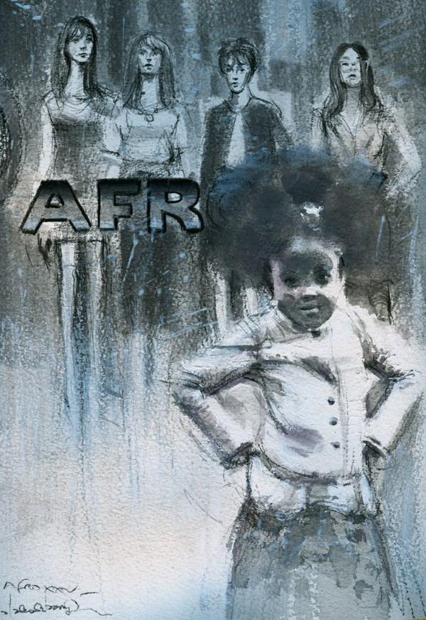"""AFRO XV"" original fine art by Adebanji Alade"