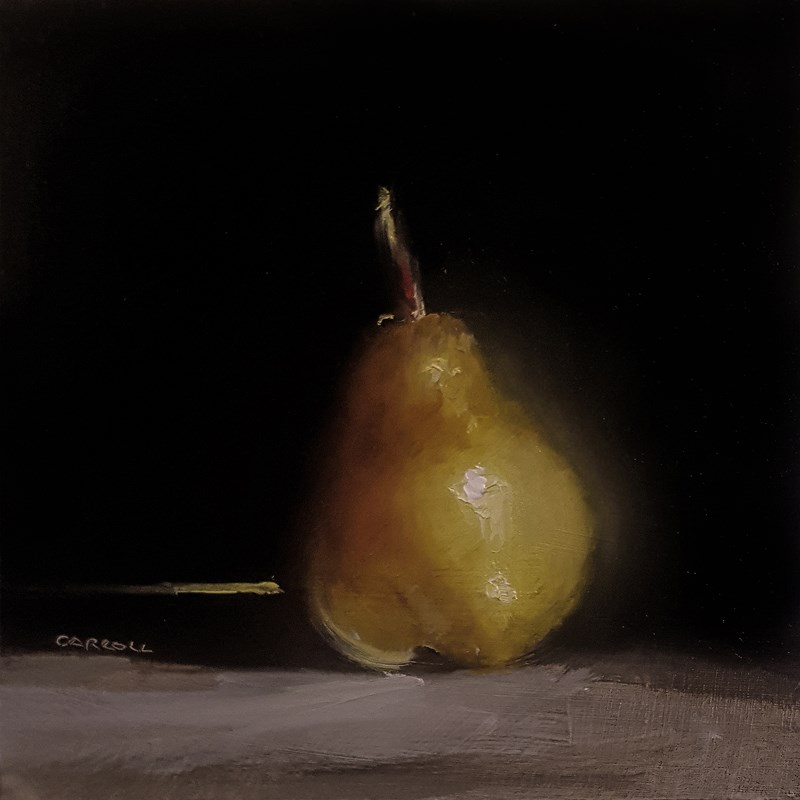 """Pear"" original fine art by Neil Carroll"