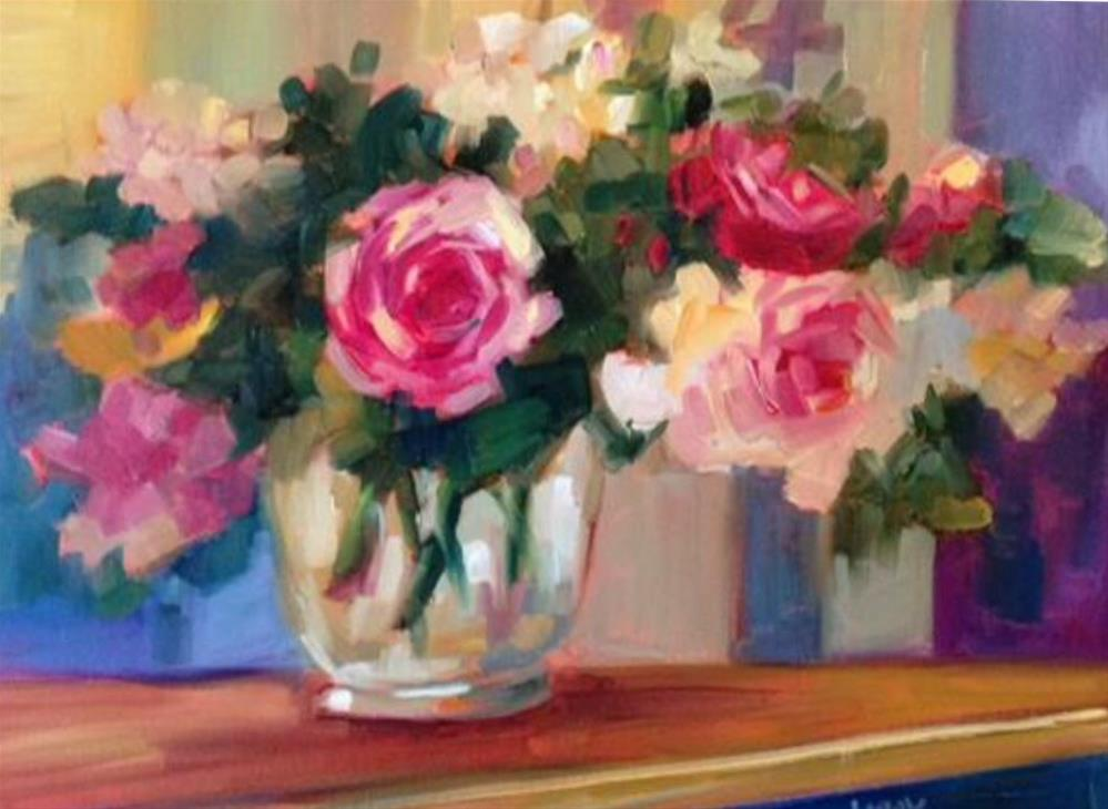 """""""CoCo's Roses"""" original fine art by Libby Anderson"""