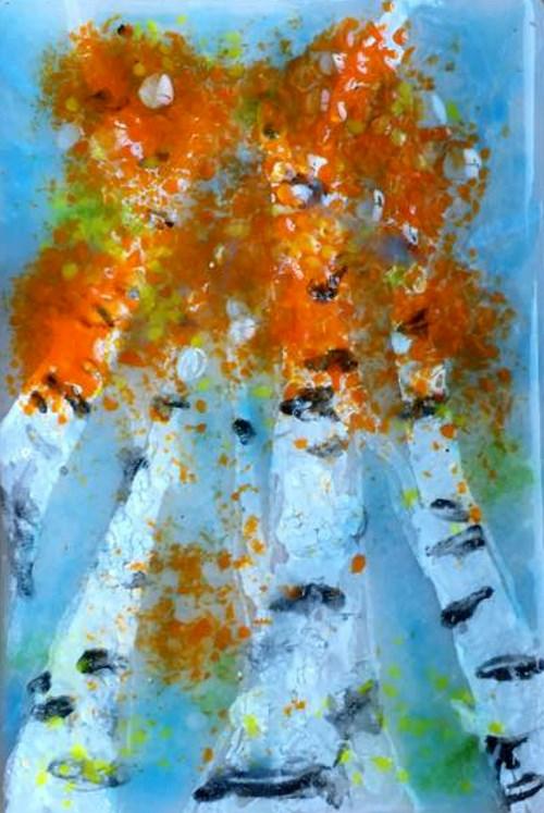"""Looking Up"" original fine art by Kristen Dukat"