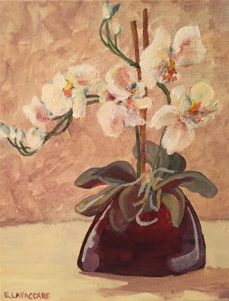"""Off White Floral"" original fine art by Ellen LaVaccare"