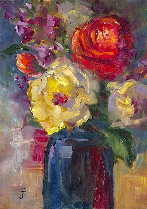 """My Favorite Bouquet"" original fine art by Francine Dufour~Jones"