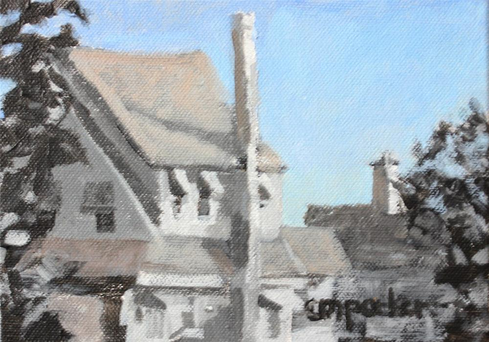"""NJ Beach Houses 2"" original fine art by Christine Parker"