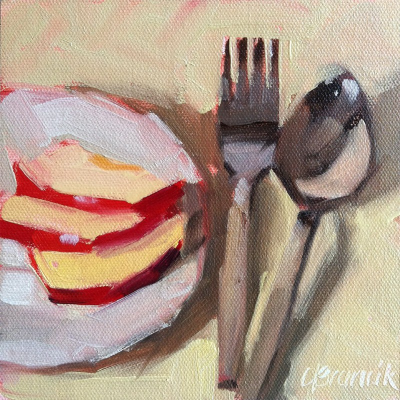 """Apple Slices"" original fine art by Candace Brancik"