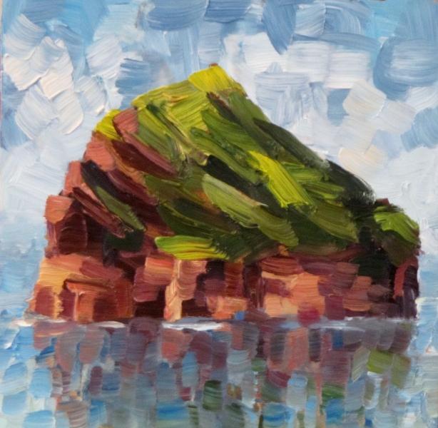 """""""My third Rock"""" original fine art by Steinunn Einarsdottir"""