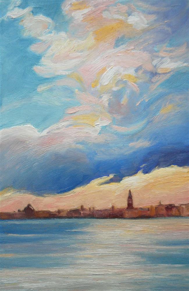 """Daily color scales #2 - Listening to Vivaldi"" original fine art by Olga Touboltseva-Lefort"