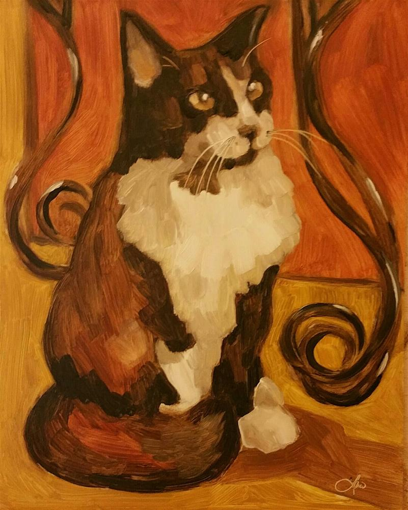 """Pretty Kitty"" original fine art by Leni Tarleton"