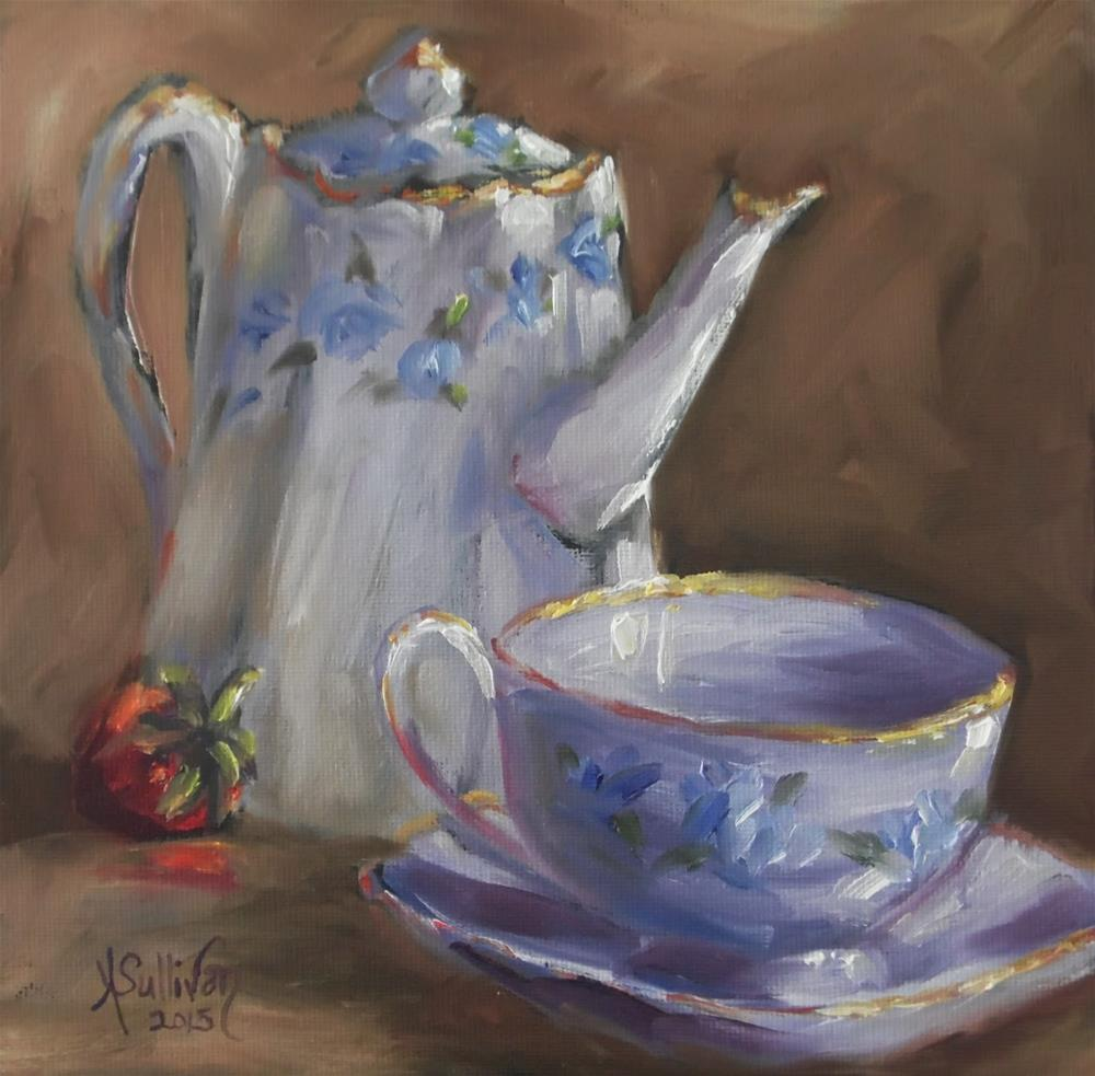 """Berry Blue still life painting by Alabama Artist Angela Sullivan"" original fine art by Angela Sullivan"