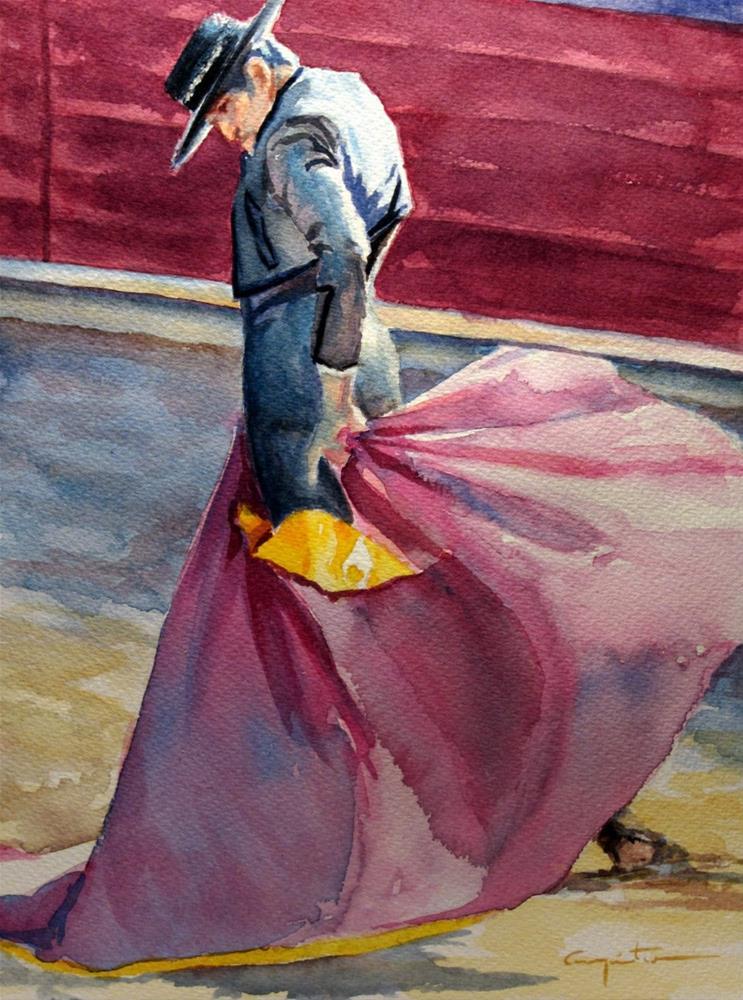 """Ciñendo el capote"" original fine art by Eduardo Carpintero"