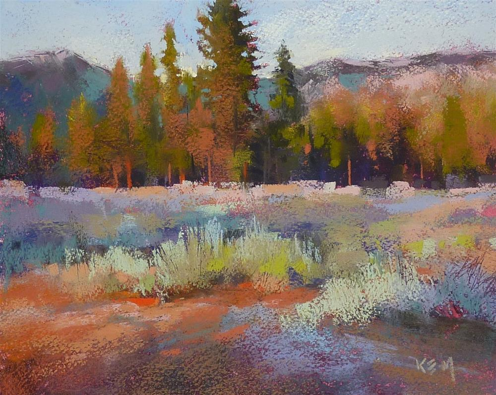 """How to Paint Expressive Trees and Shrubs..NEW Pastel Demo/Tutorial"" original fine art by Karen Margulis"