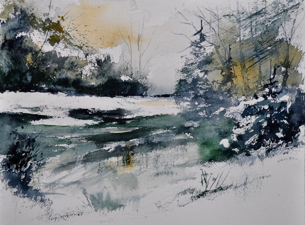 """watercolor 411052"" original fine art by Pol Ledent"