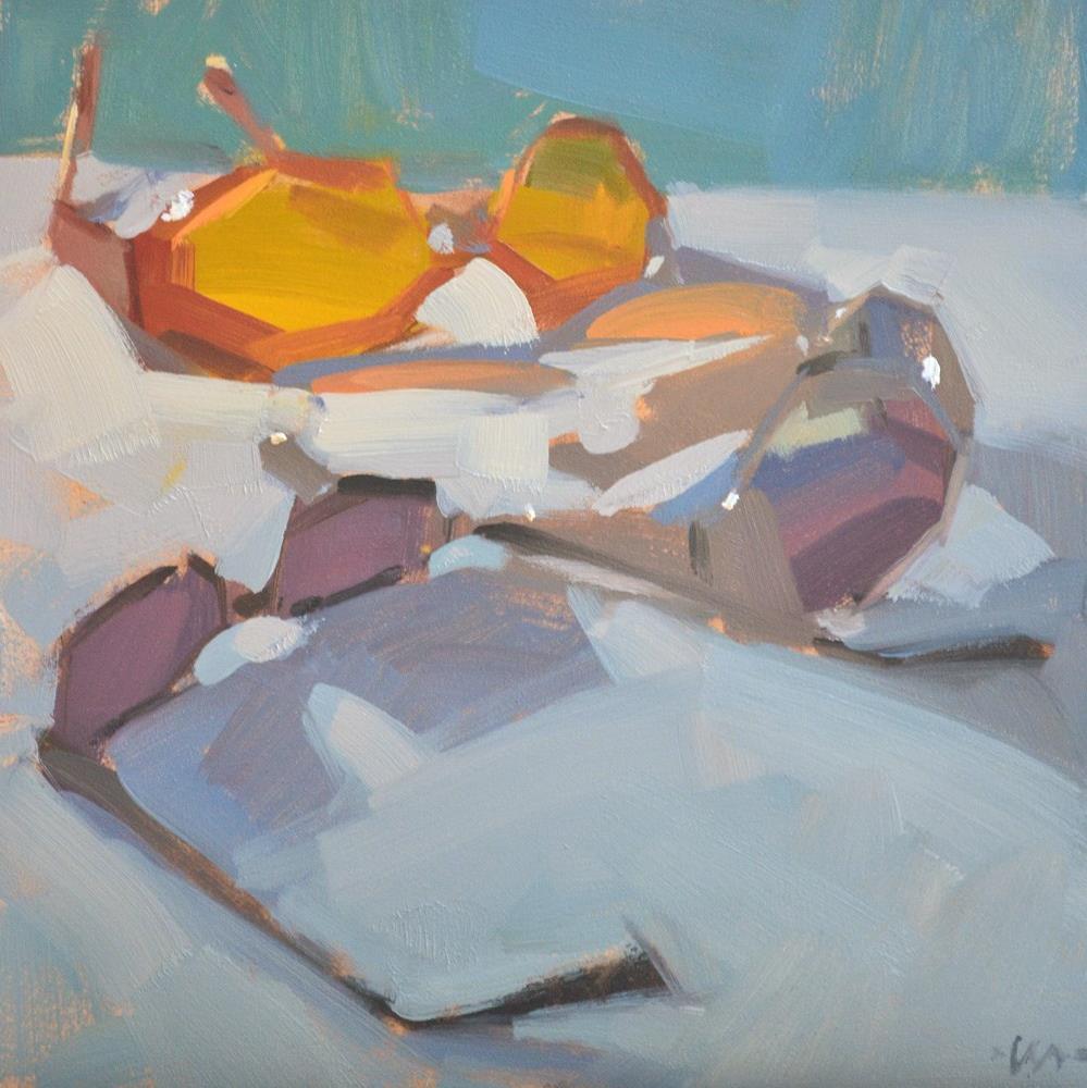 """Nina's Sunglasses"" original fine art by Carol Marine"