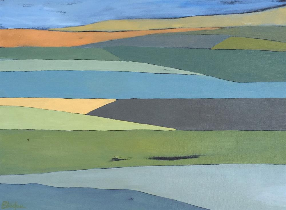 """Farmlands 11"" original fine art by Janet Bludau"