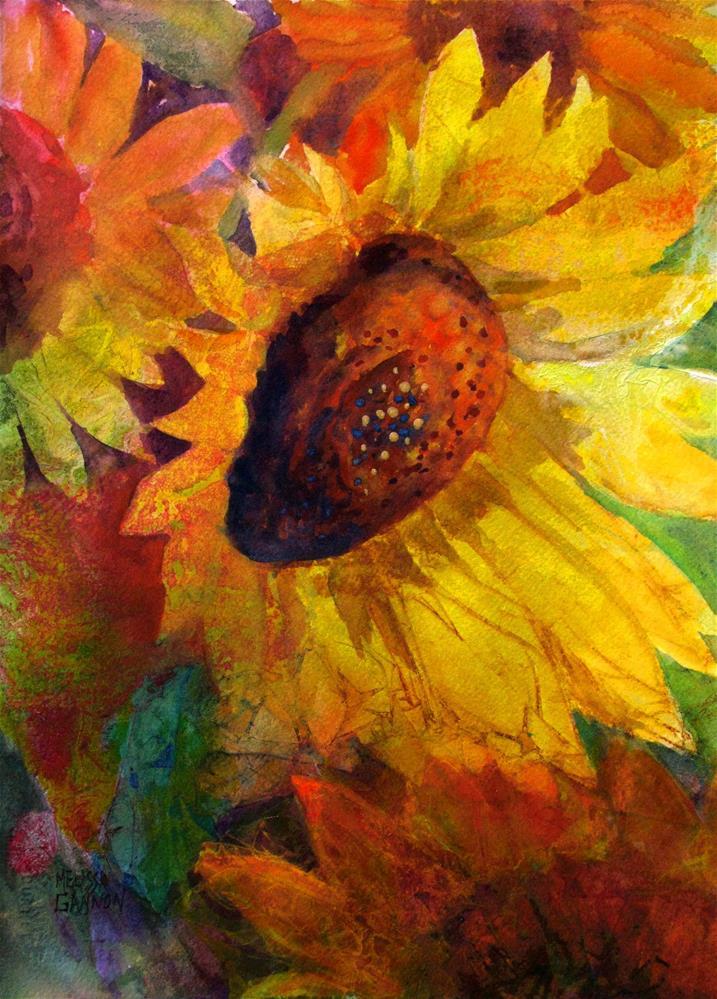 """""""Sunflower Music"""" original fine art by Melissa Gannon"""