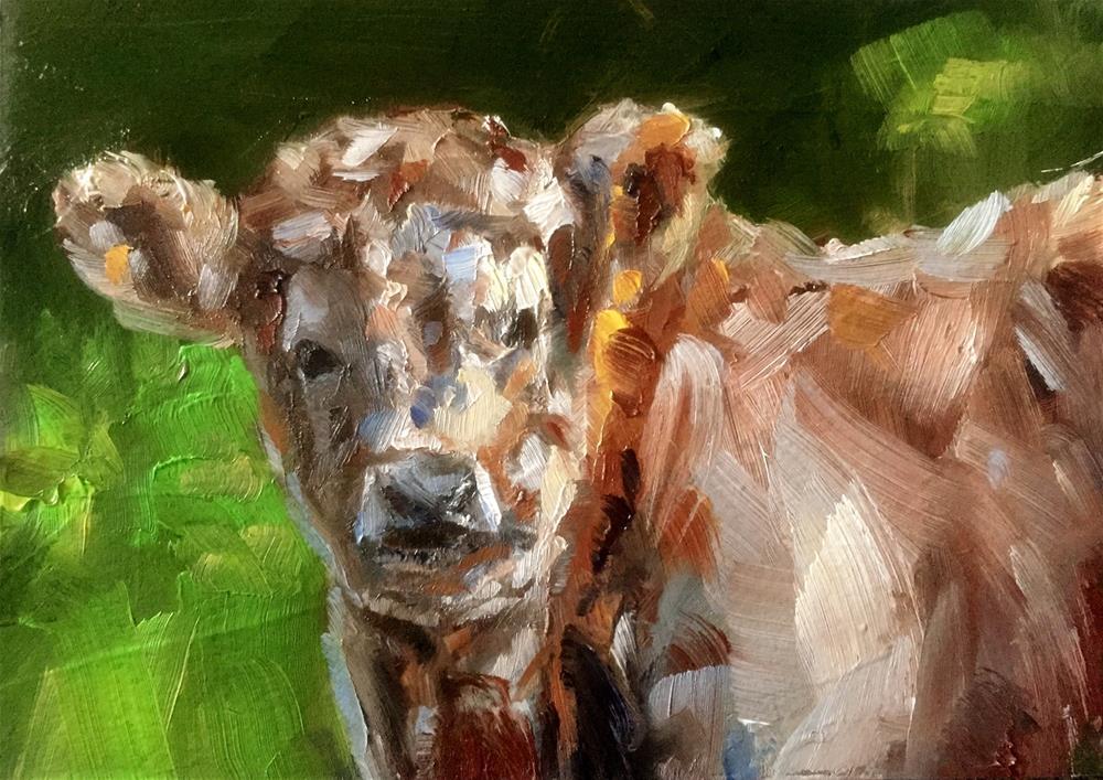 """Highlander Calf"" original fine art by Gary Bruton"