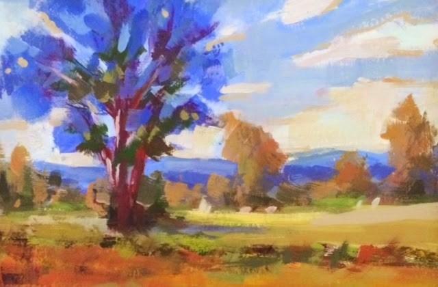 """""""FIELD OF GOLD"""" original fine art by Doug Carter"""
