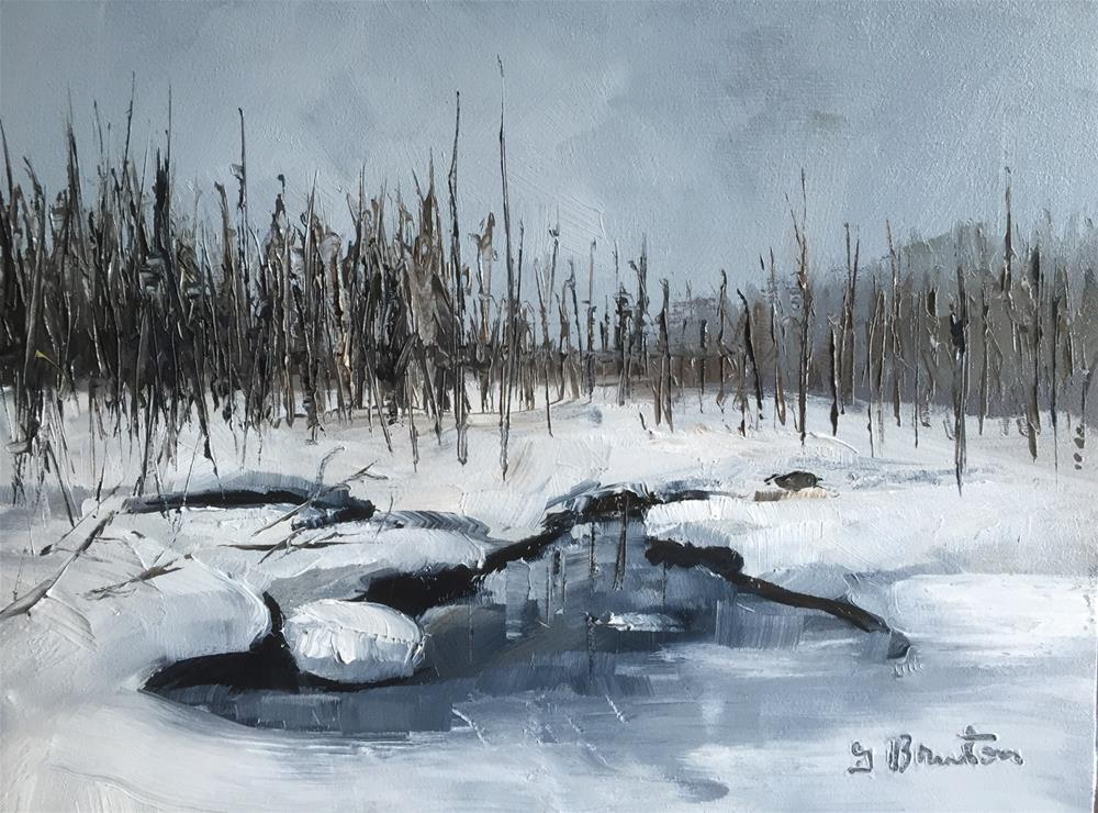 """Winter Wonderland"" original fine art by Gary Bruton"