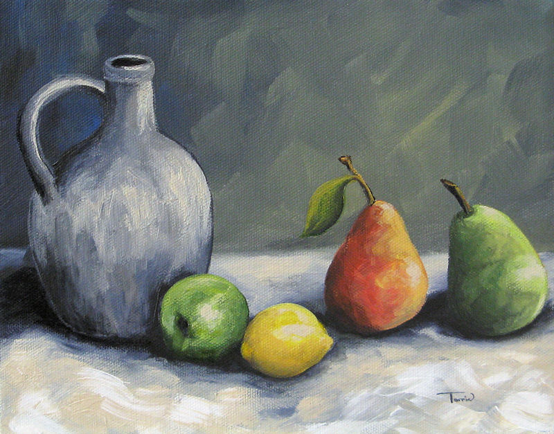 """Jug with Fruit"" original fine art by Torrie Smiley"